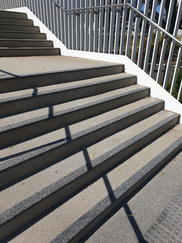 Stair nosings at Matagarup Bridge