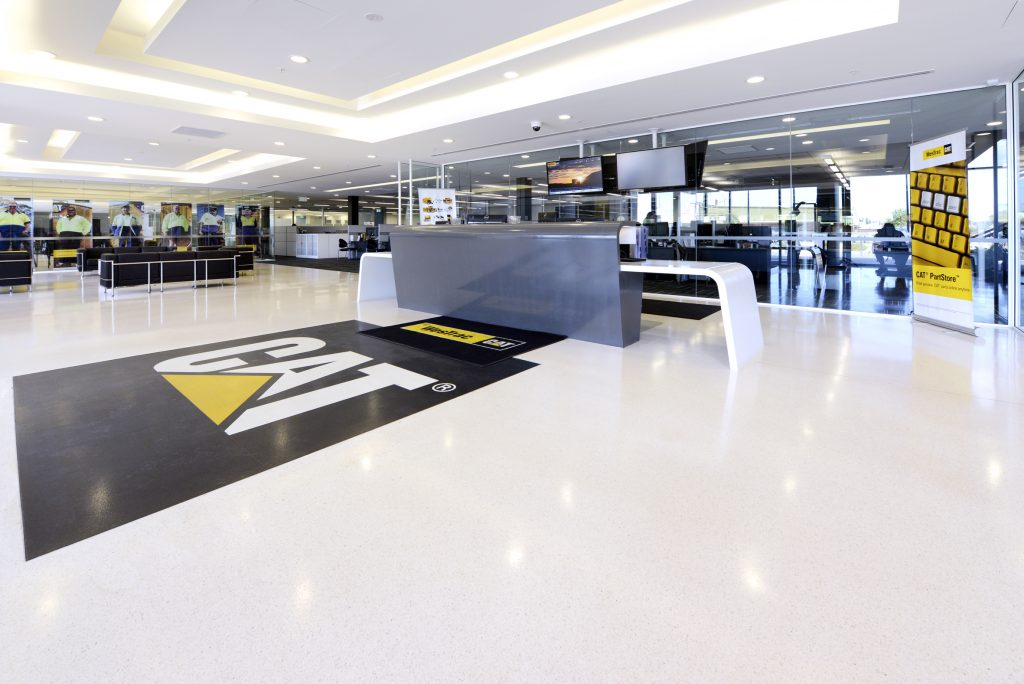 Permanent floor logo makes the right impression