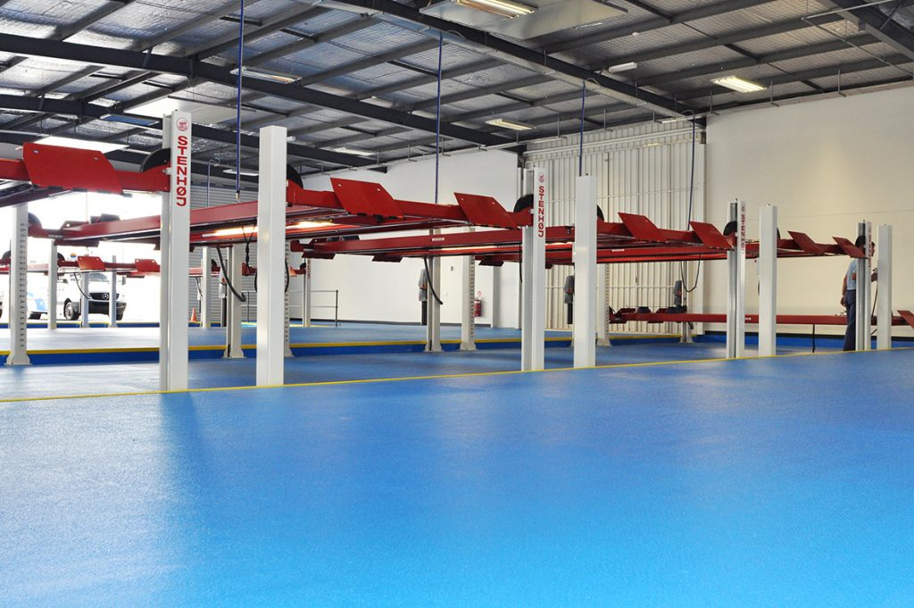 Completed works at auto service centre