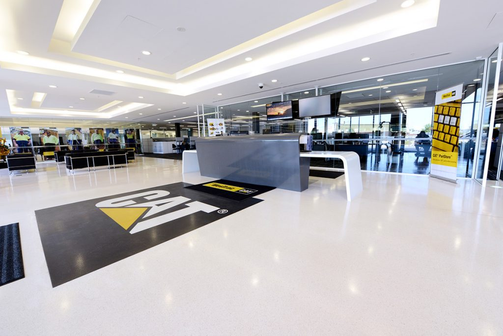Reception area at Westrac Offices