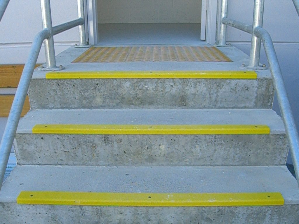 Bright stair nosings