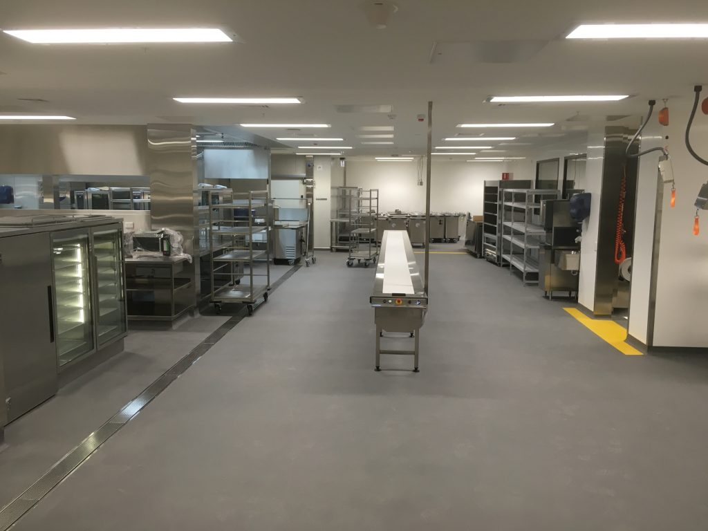 Completed kitchen floor at New Children's Hospital
