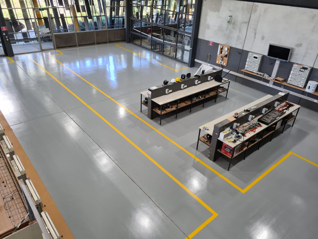 High view of completed TAFE floor
