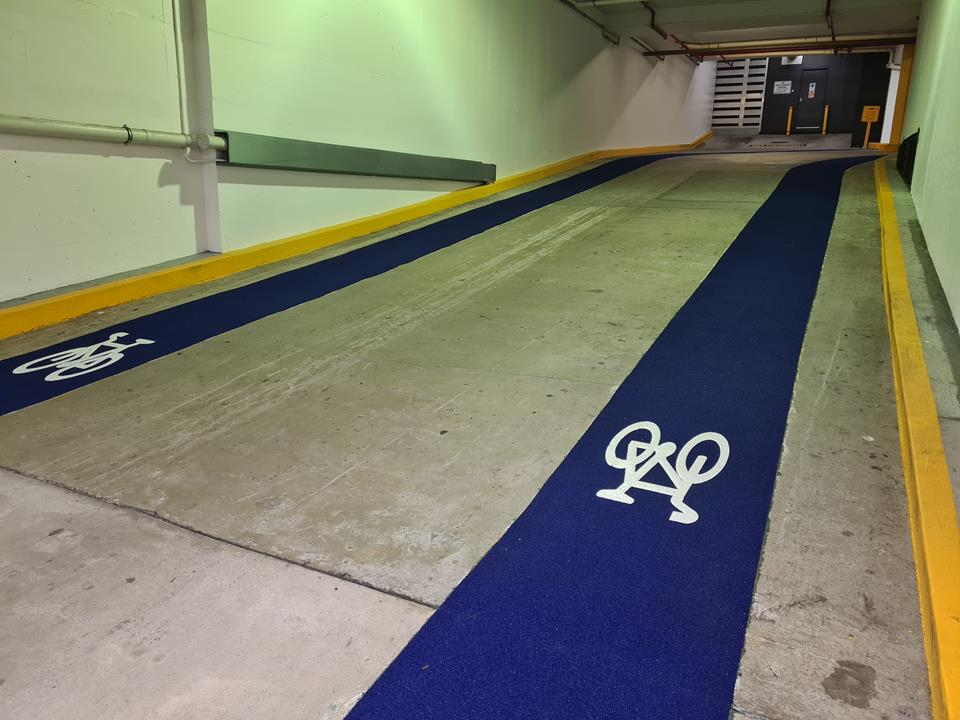 1 William St car park cycleway Omnigrip Deco