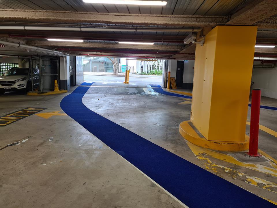 1 William St car park cycleway Omnigrip Deco