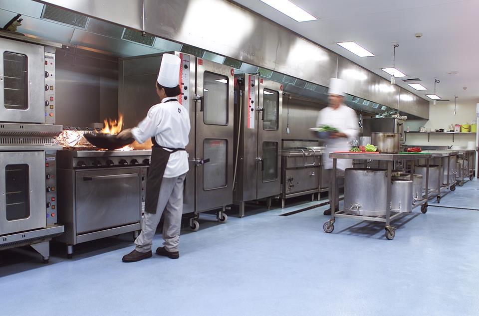Polyurethane Kitchen Floor in use